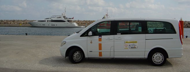 Taxi cab from Majorca airport to Costa de la Calma