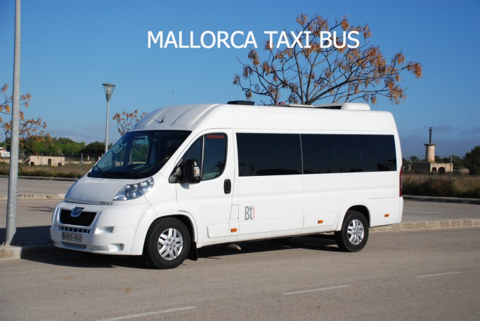 Palma airport taxi bus to Sant Elm.