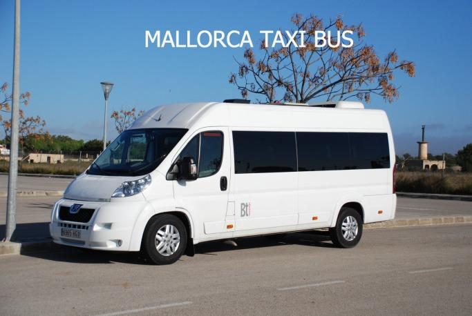 Palma de Mallorca airport taxi bus to S'Illot.