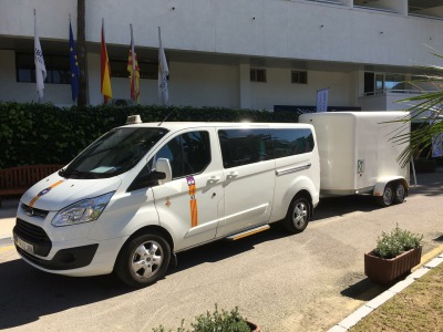 Transfers with bicycle trailer to Cala Mesquida