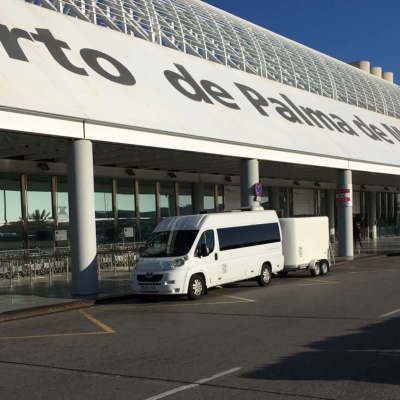 Minibus with bicycle trailer from Mallorca airport to Playa de Muro